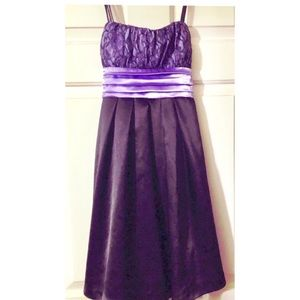 Byer California Dresses - B-Too black and purple cocktail dress